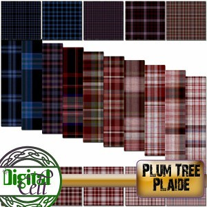Plum Tree Plaide Paper Pack