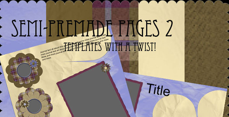 Semi Pre-Made Pages Set 2